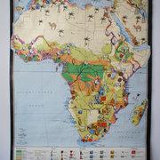 Alte Wandkarte von Afrika