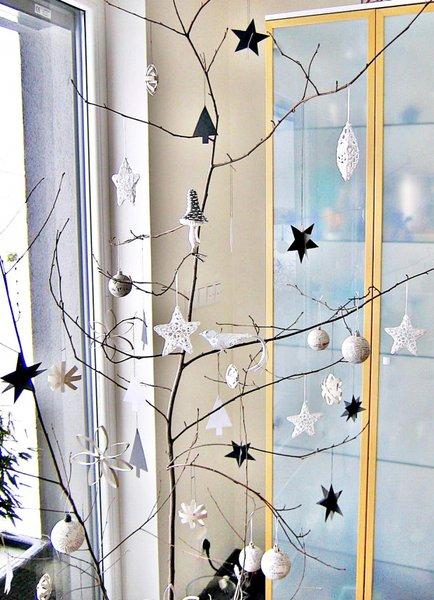 weihnachtsdeko selber basteln wundersch ner weihnachtsschmuck aus papier stoff und teig. Black Bedroom Furniture Sets. Home Design Ideas