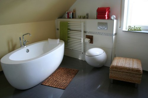 die frischmacher im badezimmer badewanne und dusche. Black Bedroom Furniture Sets. Home Design Ideas