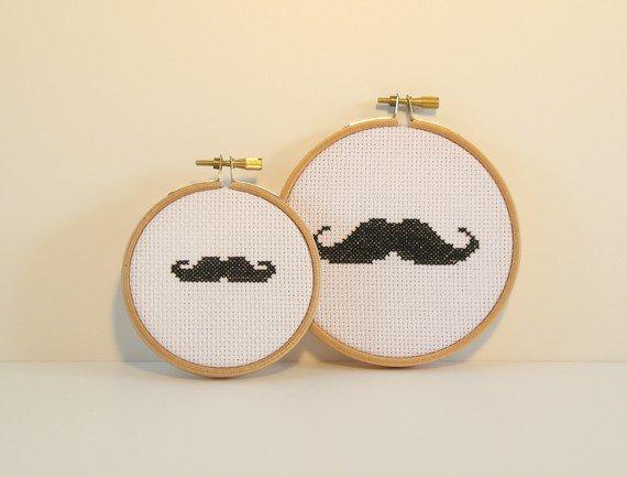 witzige dekoideen mit bart der moustache trend. Black Bedroom Furniture Sets. Home Design Ideas