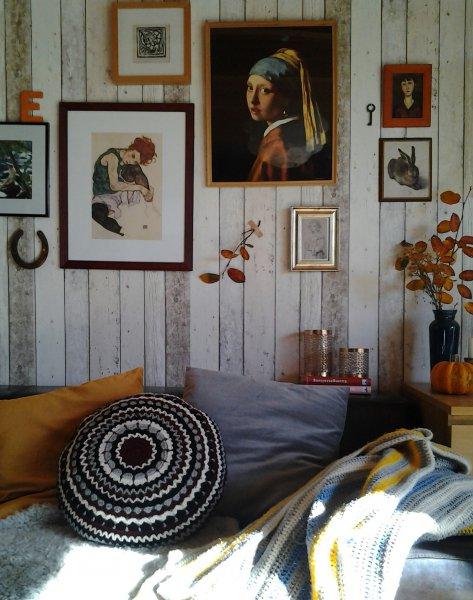 Wohnen wie diesmal mitglied manntje for Tapete holzoptik wohnzimmer