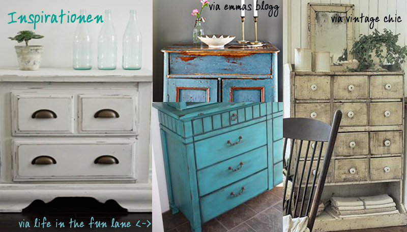 m bel im shabby chic vintage stil bemalen. Black Bedroom Furniture Sets. Home Design Ideas