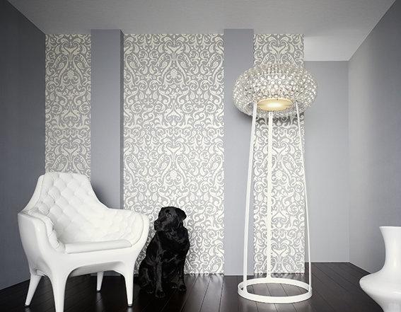 Wandgestaltung barocke tapeten for Modische tapeten wohnzimmer