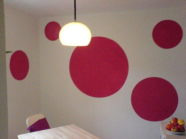 Wandfarben ideen - Wandgestaltung kreise ...