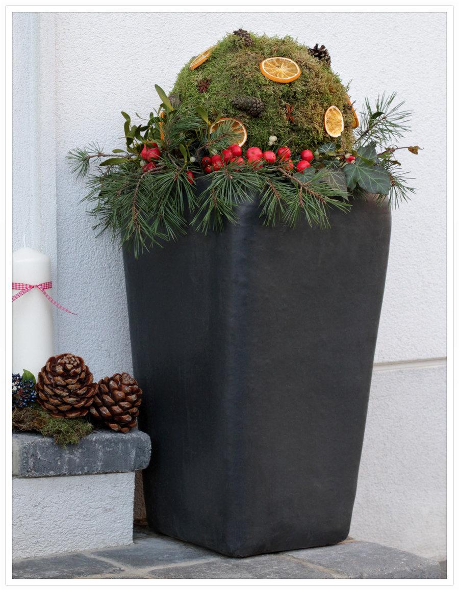 weihnachtsdeko selber machen weihnachtskugeln f r drau en. Black Bedroom Furniture Sets. Home Design Ideas