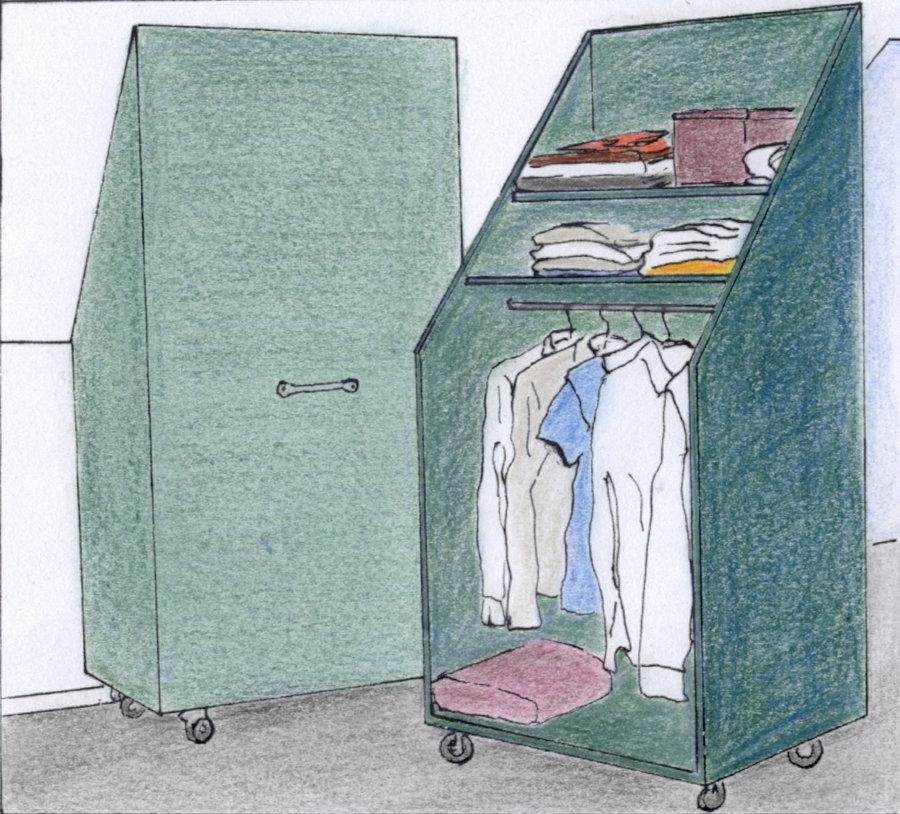 wohnen unterm dach schr nke f r die dachschr ge. Black Bedroom Furniture Sets. Home Design Ideas