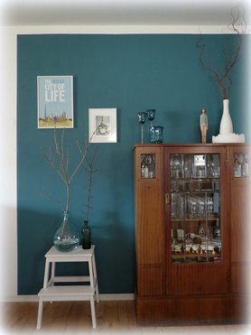 wandfarbe blau wohnideen bilder. Black Bedroom Furniture Sets. Home Design Ideas