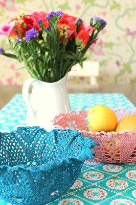 DIY aus Omas Häkeldeckchen werden Schalen