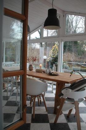 Blick aus der Küche...