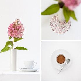 Kaffee mit Hortensie - fast Herbst