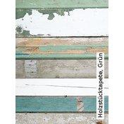 Tapete: Holzstücktapete, Grün