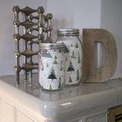 Weihnachtsbäume im Glas