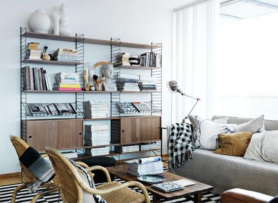 die sch nsten wohnideen mit dem string regal. Black Bedroom Furniture Sets. Home Design Ideas