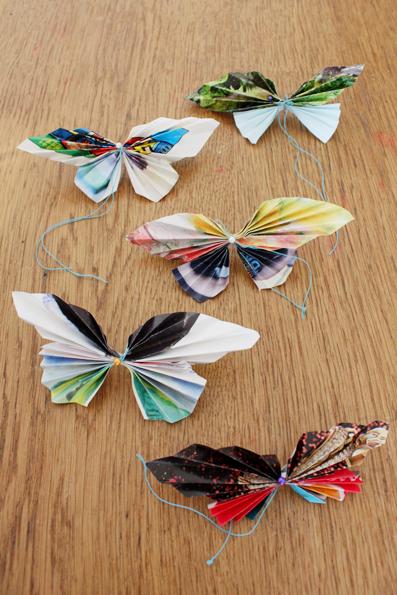 Bastelideen mit Papier: Falter falten – Papierschmetterlinge für ...