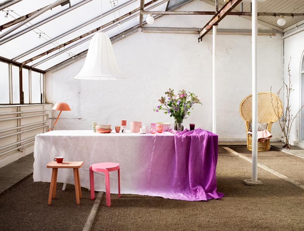 Deko Ideen Vor Der Haustur Sommer : Ombre Tablecloth