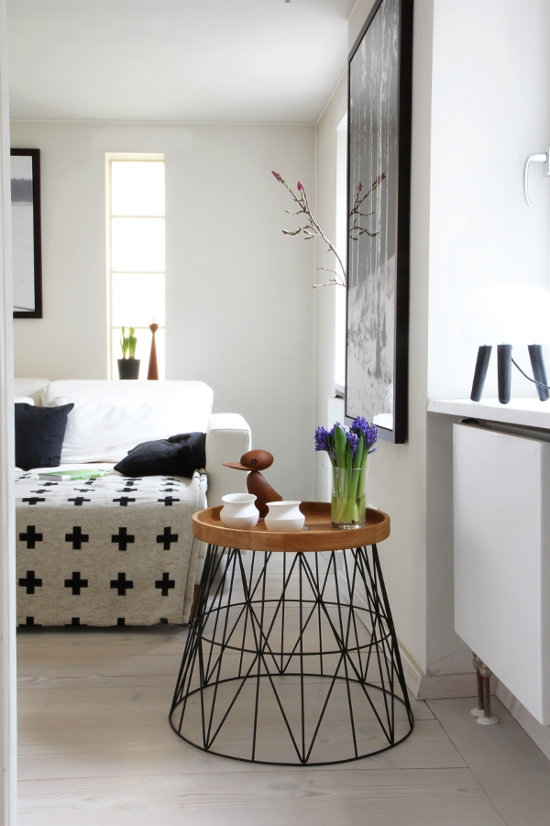 wohnideen mit dem ferm living wire basket. Black Bedroom Furniture Sets. Home Design Ideas