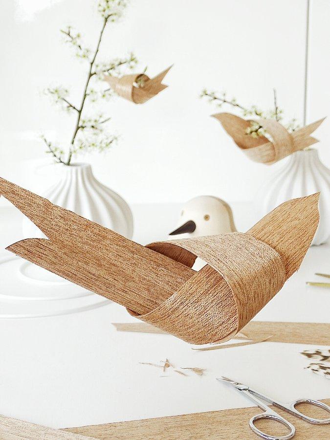 fr hlings diy v gel aus furnier von mammilade. Black Bedroom Furniture Sets. Home Design Ideas