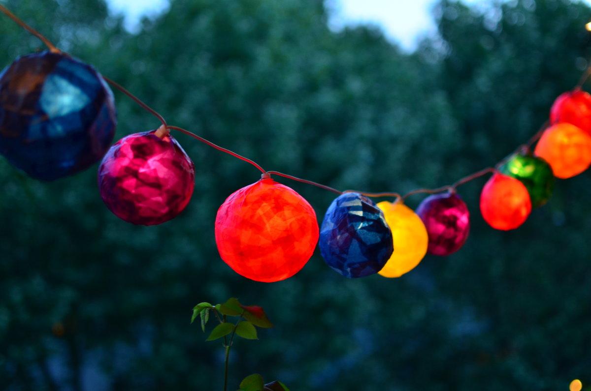 Favorit DIY: Lampions für eine Lichterkette basteln | SoLebIch.de WU89