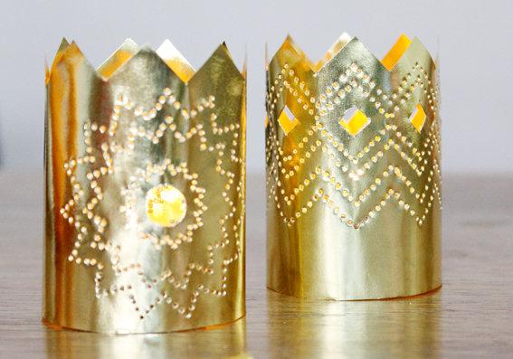 Kronleuchter Mit Windlichtern ~ Weihnachtsdeko aus papier ein kronleuchter in gold solebich