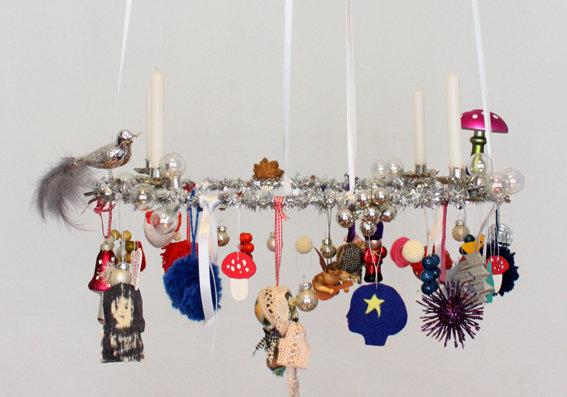 Weihnachtsdeko Ein Schwebender Adventskranz