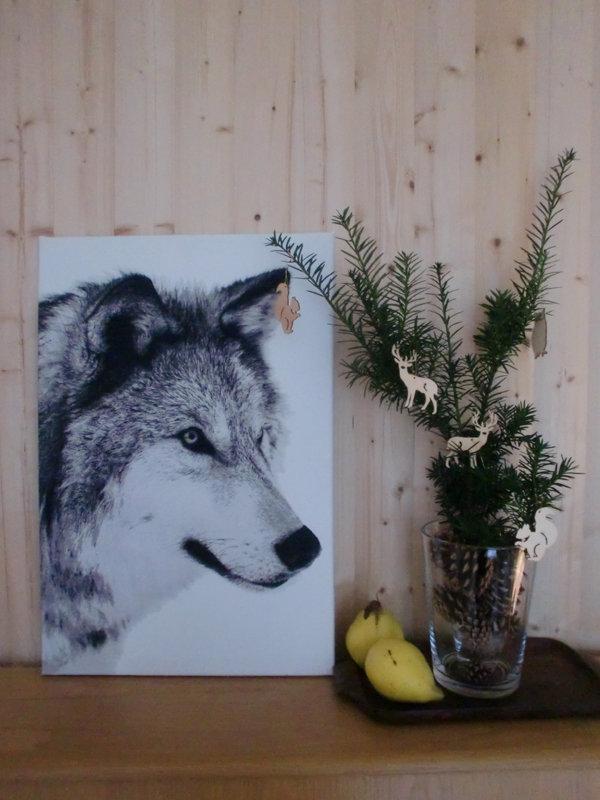 skandinavische weihnachtsdeko waldfreunde. Black Bedroom Furniture Sets. Home Design Ideas