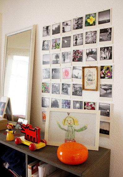 Wandgestaltung Flur: Eine Polaroid Bilderwand