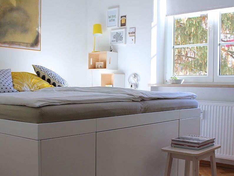 Bett mit stauraum selber bauen u lucheri
