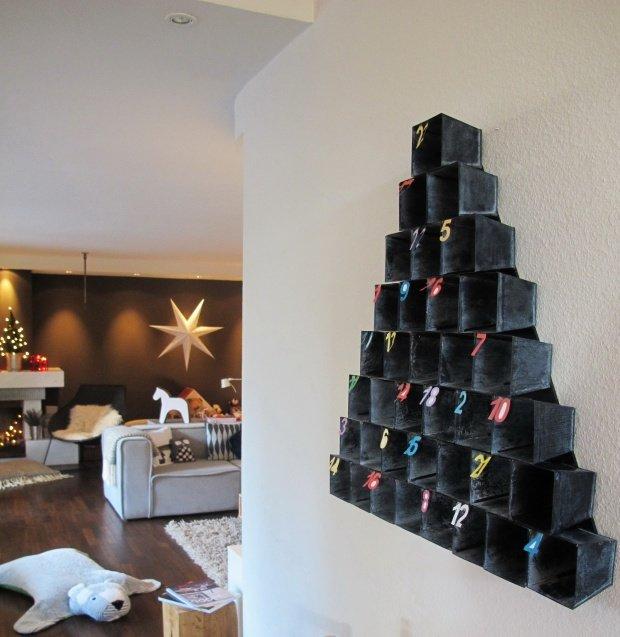 adventskalender selbstgemacht h bsche ideen f r 24 dezembertage. Black Bedroom Furniture Sets. Home Design Ideas