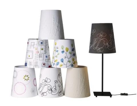 designerlampen bestickt bedruckt bemalt stofflampenschirme gibt es in vielen variationen foto ikea