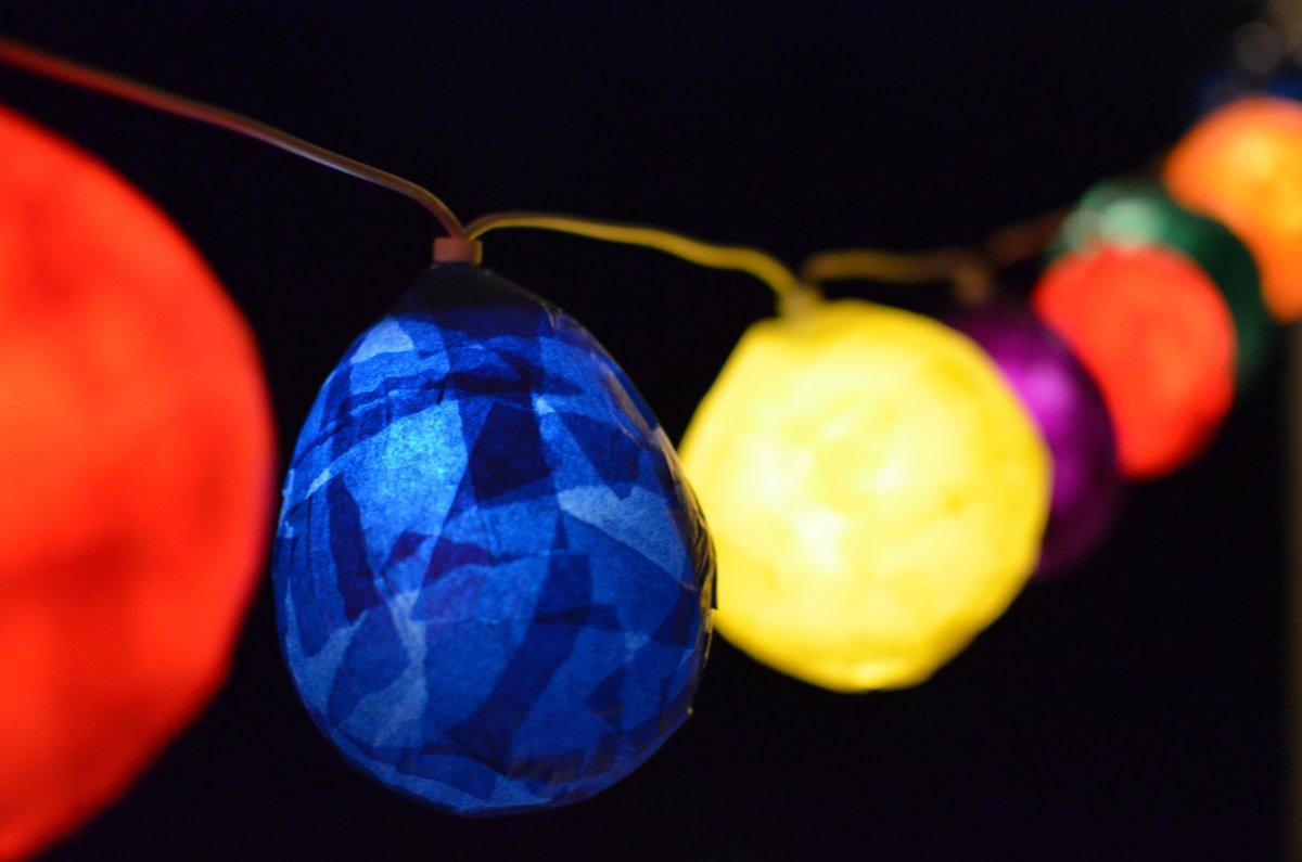 Beliebt DIY: Lampions für eine Lichterkette basteln | SoLebIch.de VE05