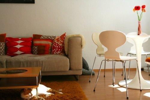 Farbgestaltung Wohnzimmer Rot Und Orange Bestimmen Die Atmosphre Bei This Is Kati