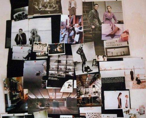 Wandgestaltung Mit Fotos: Fotos, Bilder, Postkarten Und Andere Schnipsel  Tummeln Sich In Dieser Bunten Collage An Der Wand. (Bild: Jansone)