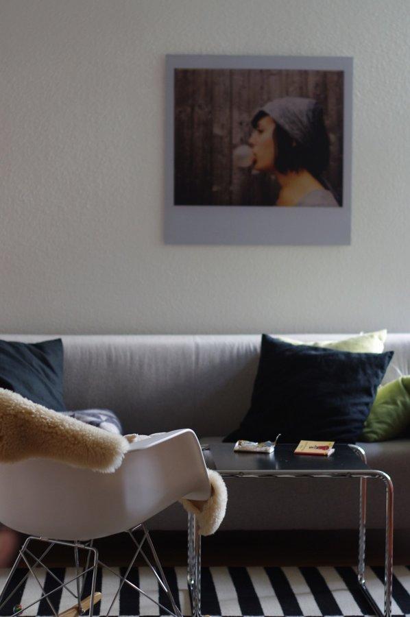 Wohnzimmergestaltung Mit Einem Einzelnen Ganz Besonderen Bild Wie Diesem Polaroid In XXL Bei Unserem Mitglied MiMa9308