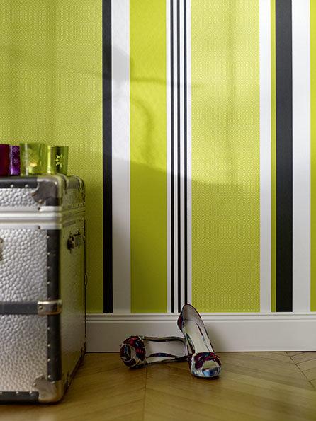 Wandgestaltung In Streifen: Wände Im Streifenkleid