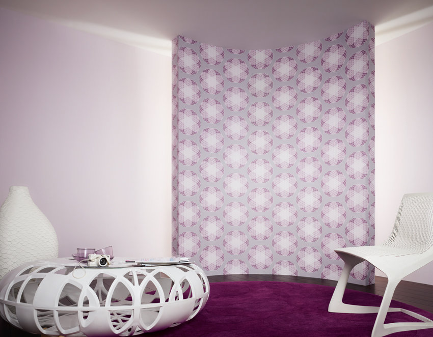 Wandgestaltung: Lila Tapeten | SoLebIch.de