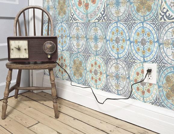wohnen wie in marokko diese fliesentapete bringt urlaubsstimmung ins haus. Black Bedroom Furniture Sets. Home Design Ideas