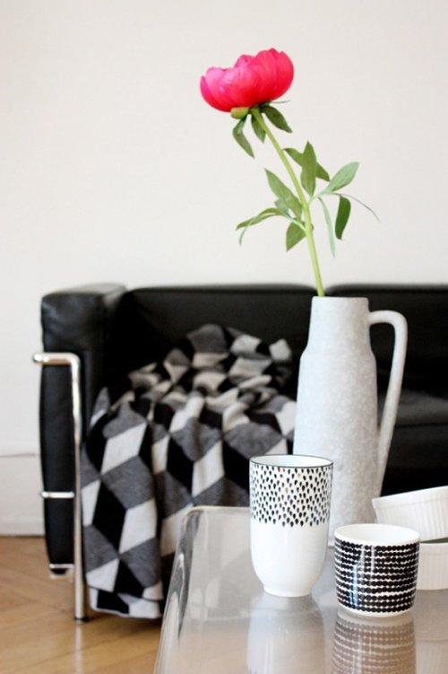 Wohnzimmer Einrichten In Schwarz Weiß: Ein Hübscher Trend   Auch Im  Wohnzimmer! (Bild: Philuko)