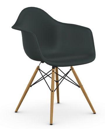 Perfekt Eames Plastic Armchair Sitzschalenfarbe: Basalt. Untergestellfarbe: Esche  Honigfarben. Fussuntersatz: Filzgleiter Basic Dark Für Hartboden