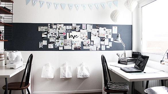 Ideen Für Die Wandgestaltung Im Arbeitszimmer