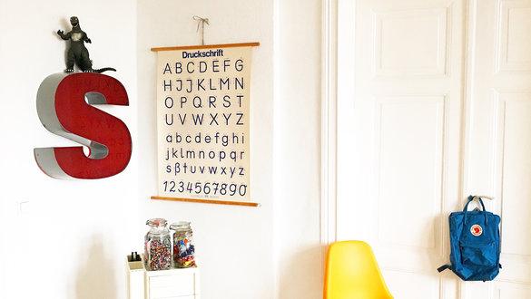 vintage wanddeko mit dekobuchstaben - Wanddeko Ideen
