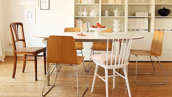 Stuhlmix: Kombiniere Unterschiedliche Stühle Gekonnt