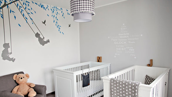 babyzimmer ideen muster wahl pompoms