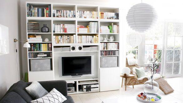 Stauraumwunder im Wohnzimmer: Die Wohnwand