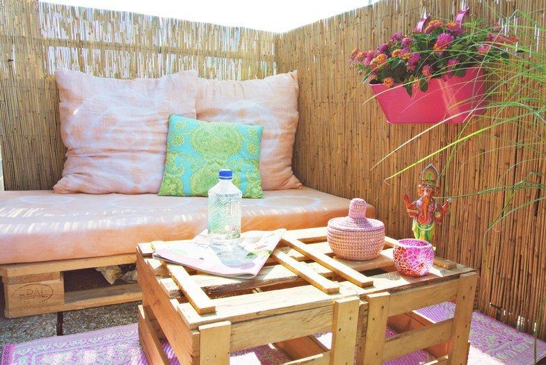 diynstag 16 kreativ ideen f r balkon und terrasse. Black Bedroom Furniture Sets. Home Design Ideas