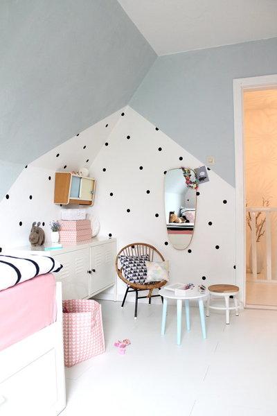 Gut Trocknen Lassen Und Erst Dann Mit Der Gewünschten Wandfarbe Streichen.  Die Schwarzen Klebepunkte Gibt Es Fertig Zu Kaufen, Ihr Könnt Sie Aber Auch  ...