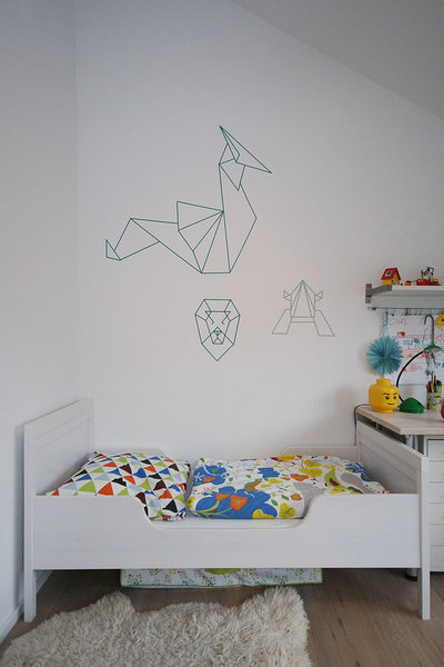 diynstag 10 ideen f r die wandgestaltung im kinderzimmer. Black Bedroom Furniture Sets. Home Design Ideas