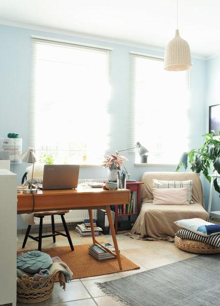 wohnen weben wohlf hlen zu besuch bei phthaloblau in osnabr ck. Black Bedroom Furniture Sets. Home Design Ideas