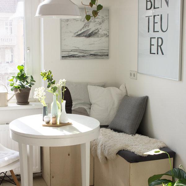 klein aber fein die besten ideen f r kleine r ume. Black Bedroom Furniture Sets. Home Design Ideas