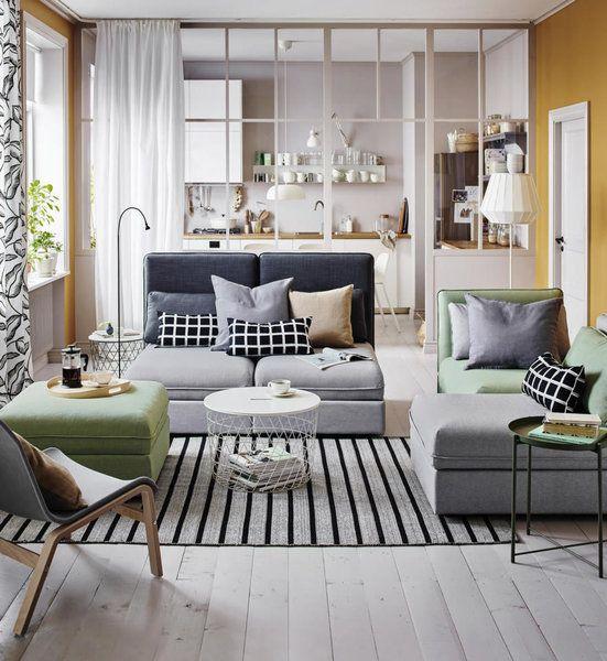 Hier Zeigt Ikea Seinen Entwurf Für Ein Wohn Schlafzimmer, Möglich Dank Der  Bunt Kombinierten Vallentuna Schlafsofas. Natürlich Werden Auch Die Großen  ...