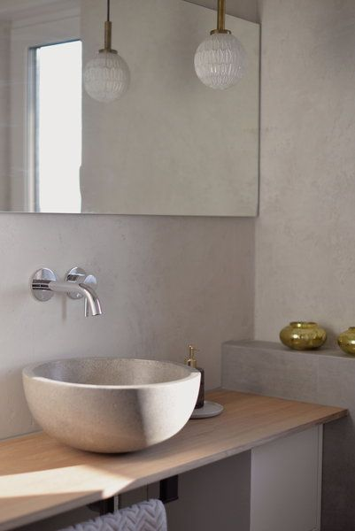Makeover: In 4 Schritten zur modernen Betonoptik im Badezimmer ...